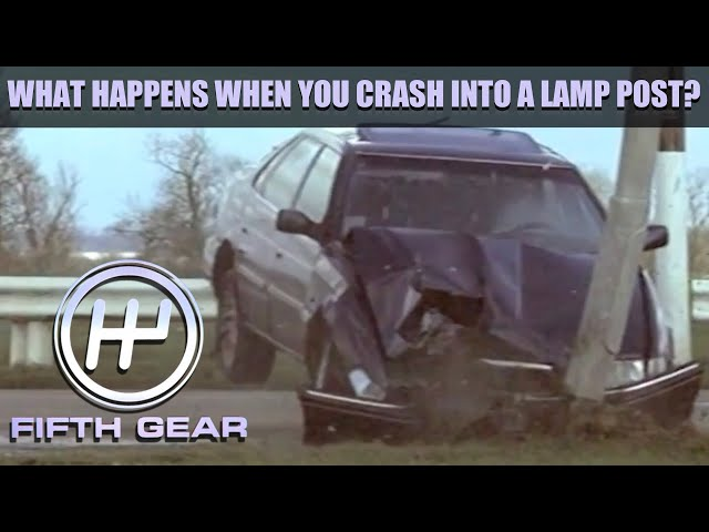 What happens when you crash into a Lamp Post? | Fifth Gear