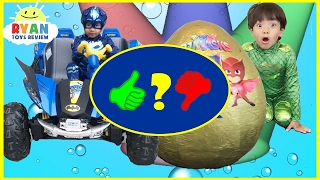 Pj Masks Toys videos Compilation for Kids! Giant Egg Surprise Headquarters Playset - Video Review