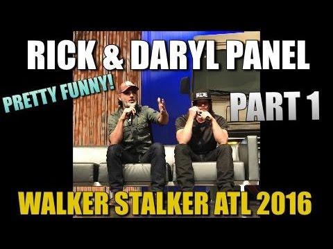 The Walking Dead Andrew Lincoln And Norman Reedus Panel Walker Stalker Atlanta 2016 PART 1
