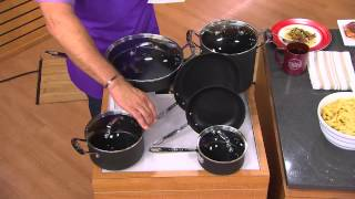 Emeril by All-Clad 10-Piece Hard Anodized Cookware Set with David Venable
