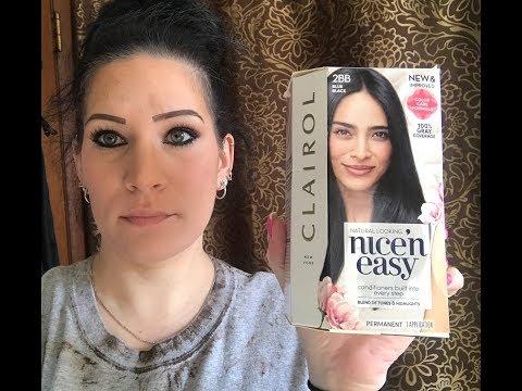 Clairol Nice & Easy hair dye (new formula) blue black - Nina Gilhousen