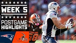 Patriots vs. Browns | NFL Week 5 Game Highlights