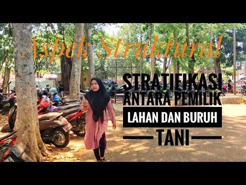 Aspek Struktural Masyarakat - Stratifikasi Pemilik Lahan dan Buruh Tani J4 Praktikum SOSPER 2019