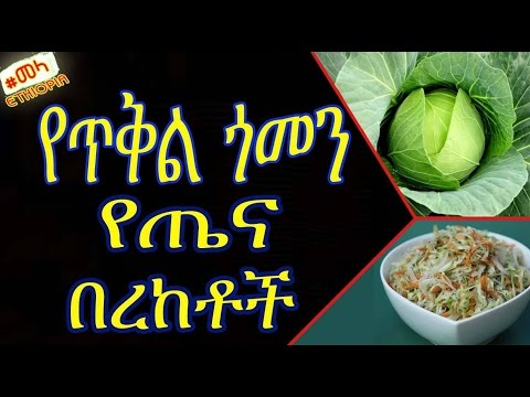 ETHIOPIA - የጥቅል ጎመን የጤና በረከቶች | Health Benefits of Cabbage in Amharic