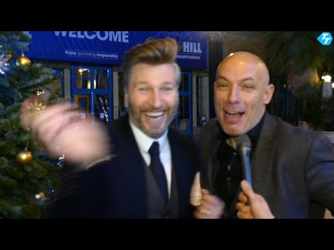 Robbie Savage & Howard Webb Funny  interview at the William Hill World Darts Championship