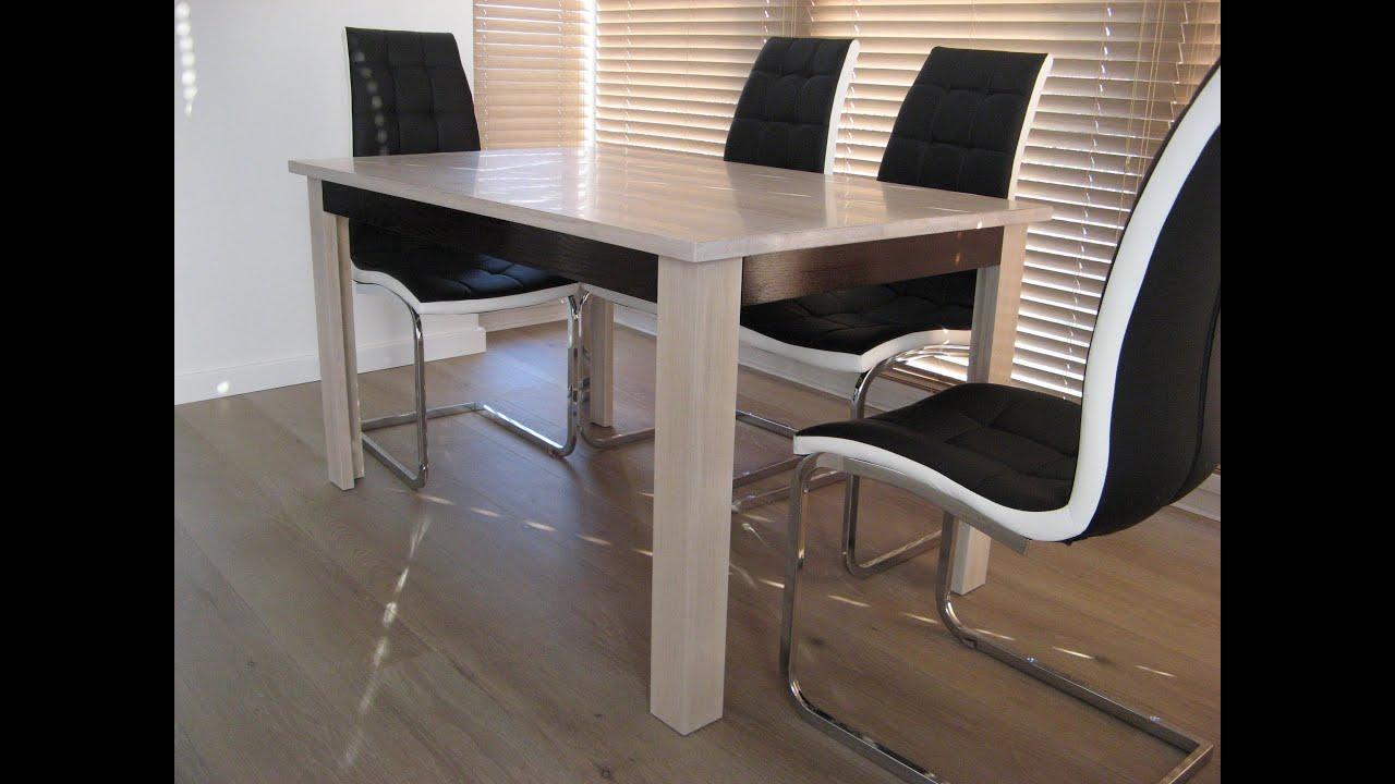 Bielony Stół Dębowy / Bleached Oak Dining Table / DIY