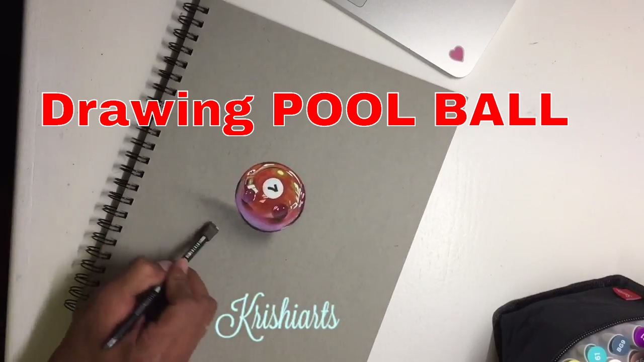 pool drawing ball realistic draw
