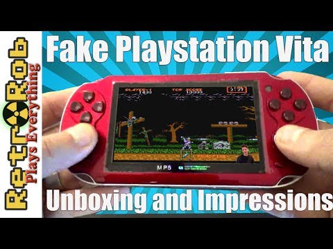 Fake Playstation Vita Unboxing, First Impressions and Gameplay!