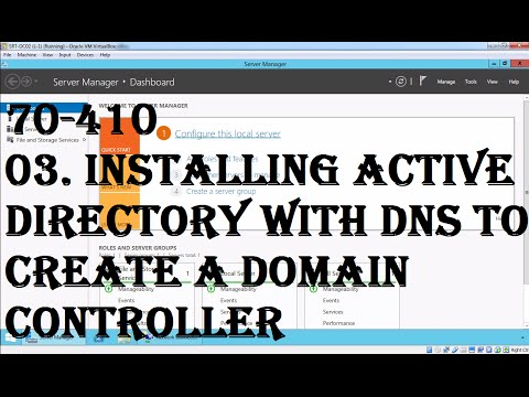03 Installing Active Directory With DNS To Create A Domain Controller On Windows Server 2012 R2