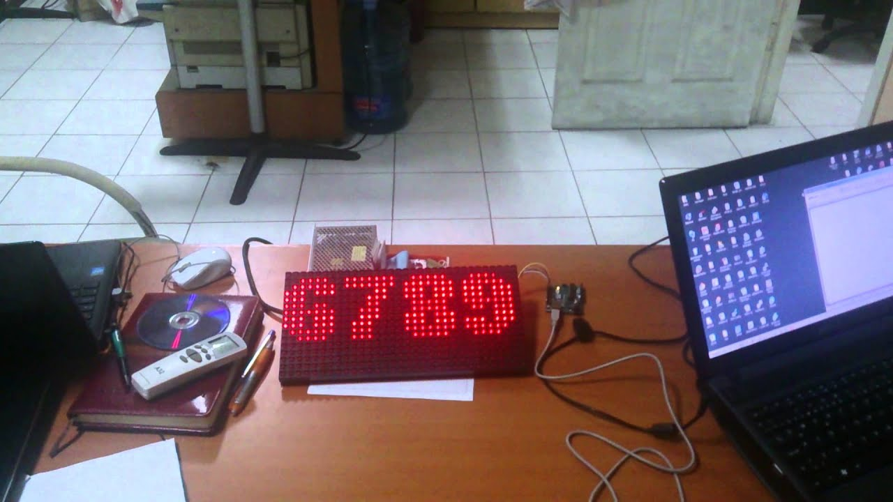 Arduino + P10 Led Panel + DMD Library
