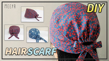DIY 남여노소 두건 쉽게만들기|Unisex Bandana|헤어스카프|반다나|머리수건|Hairscarf|Bandana Pattern included|두건도안|패턴포함|バンダナ