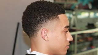 HOW TO: CURL /TWIST TAPER FADE BY CHUKA THE BARBER