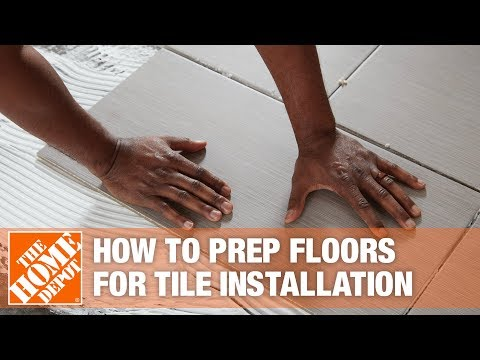 How To Prepare Your Floor for Installing Large Porcelain Tile | The Home Depot