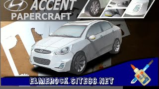 Hyundai Accent Papercraft (made from paper)
