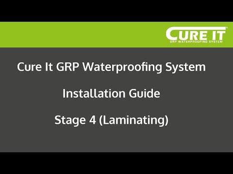 Cure It GRP Waterproofing System Installation - Stage 4 (Laminating)