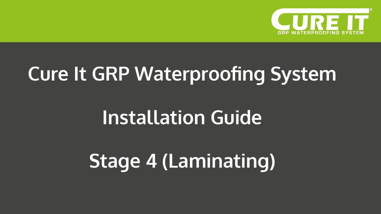 Cure It Grp Waterproofing System Installation Stage 4