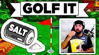 Golf It! - 🧂 SO SALTY 😡 DOUBLE RAGE QUIT, JUMP & RUN, HOLE IN ONE (Multiplayer Gameplay Lets Play)