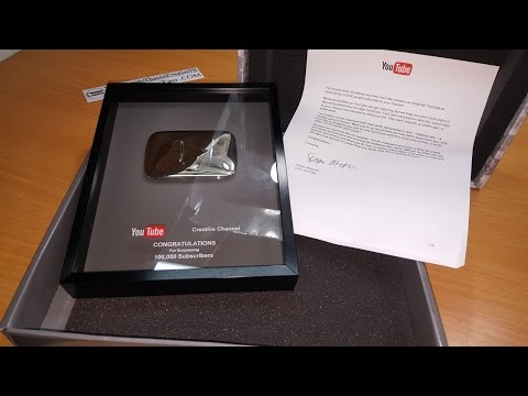 "My Silver Play Button ""Creative Channel"" Thanks everyone"