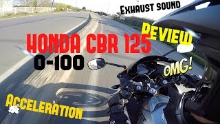 TEST#1 HONDA CBR 125 / 0-100 / ACCELERATION / REVIEW