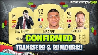 FIFA 20 | NEW CONFIRMED TRANSFERS & RUMOURS!! 😱🔥 | FT. MBAPPE, ERIKSEN, EMERY..