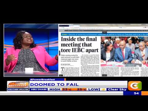 Power Breakfast:Newspaper Review:Can the IEBC survive?