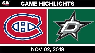 NHL Highlights   Canadiens vs Stars – Nov. 2, 2019