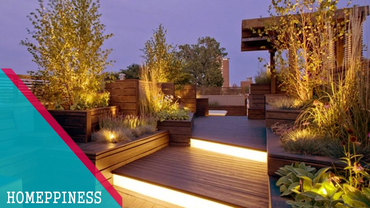 (NEW DESIGN 2017) 30+ Attractive Terrace Garden Ideas For ... on Terraced House Backyard Ideas id=58715