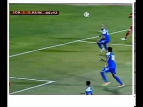 Gol insólito en el Jordania-Kuwait