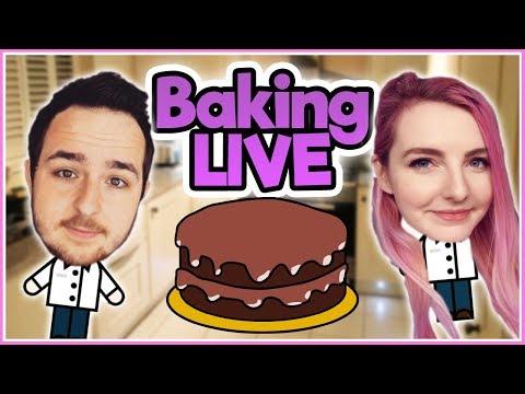Lizzie and I Bake a Cake LIVE! Pt.1