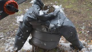 chainsaw vs down jacket II north face
