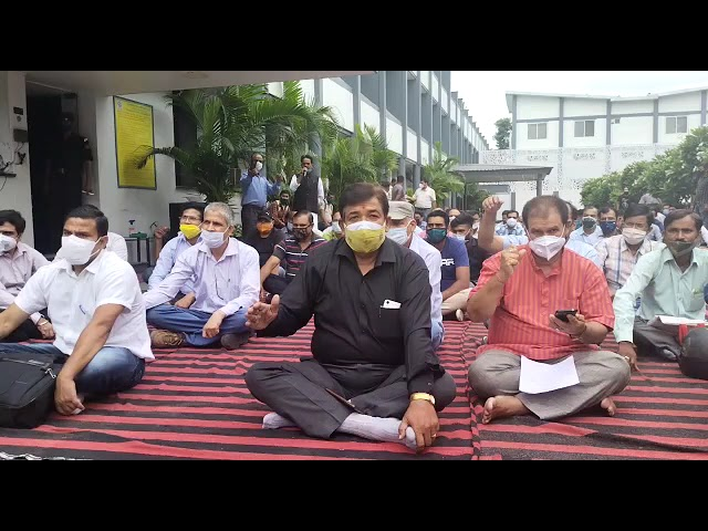 UPCL ,UJVNL protest for their demands