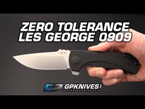 Zero Tolerance Les George 0909 Tactical Flipper Overview