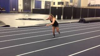 Shot put repeated glide line drill