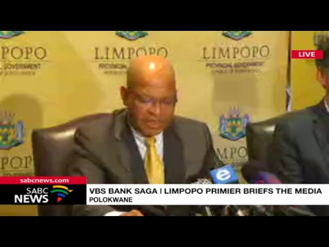 VBS Bank saga | Limpopo premier releases VBS forensic report