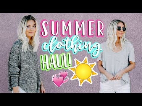 HUGE SUMMER CLOTHING HAUL!