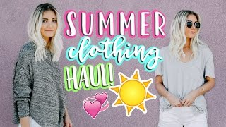HUGE SUMMER CLOTHING HAUL!