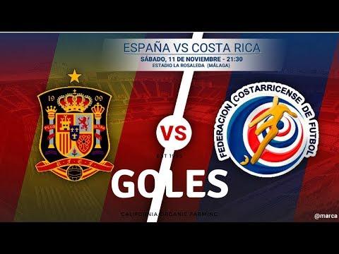 España 5 vs Costa Rica 0 - Goles
