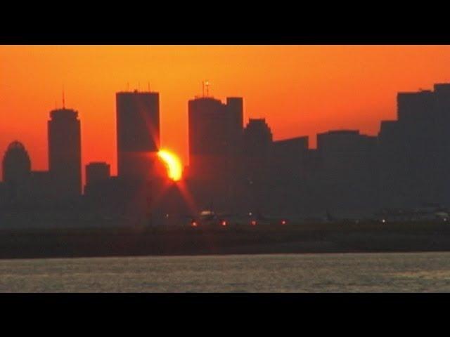BOSTON Logan Airport Sunset Action (1999)