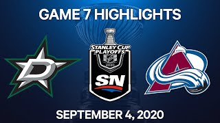 NHL Highlights | 2nd Round, Game 7: Stars vs. Avalanche - Sept 4, 2020
