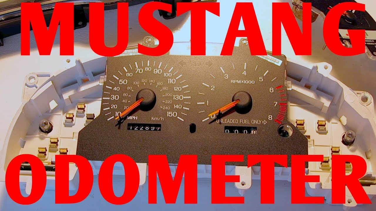 Repair Mustang Odometer Gear Trip Meter Fix 1994 1998 Diy Easy