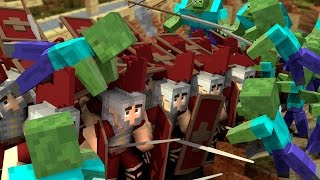 Minecraft | 300 Roman Soldiers vs 1800 Zombies! (Rome vs Zombies: Massive Mob Battles)