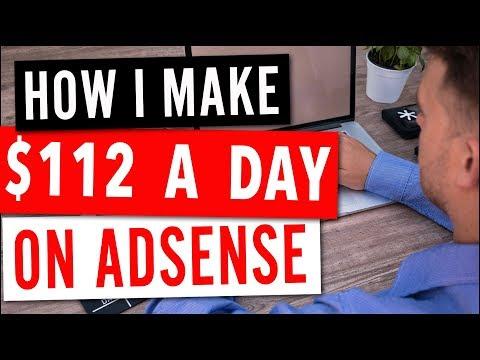 $112 a day – AdSense Passive Blogging Income