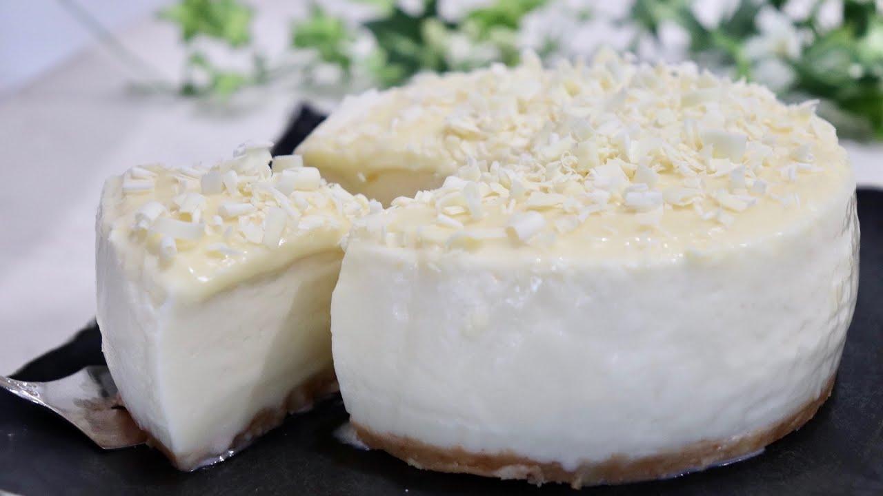 ホワイトチョコムースケーキの作り方 How to make white chocolate mousse cake