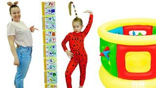 Лера хочет быть выше и прыгать на батуте