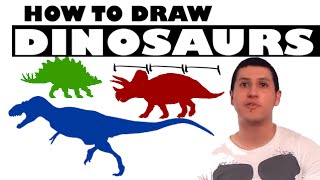 Enzyme Art #9 - How to Draw Dinosaurs