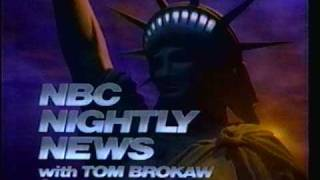NBC Nightly News close - 1987