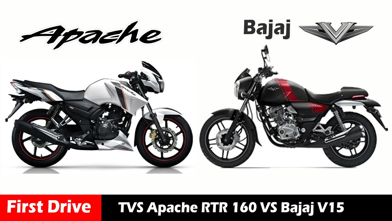 Bajaj V15 Vs Apache Rtr 160 Compare And Review First Drive