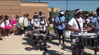 Lee and Huntsville Community Drumline Merge Drumlines at Back to School Parade