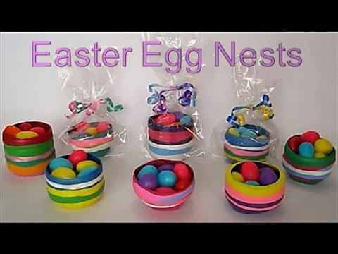 Diy Easter Crafts For Kids Mini Gift Basket Egg Nests Recycled