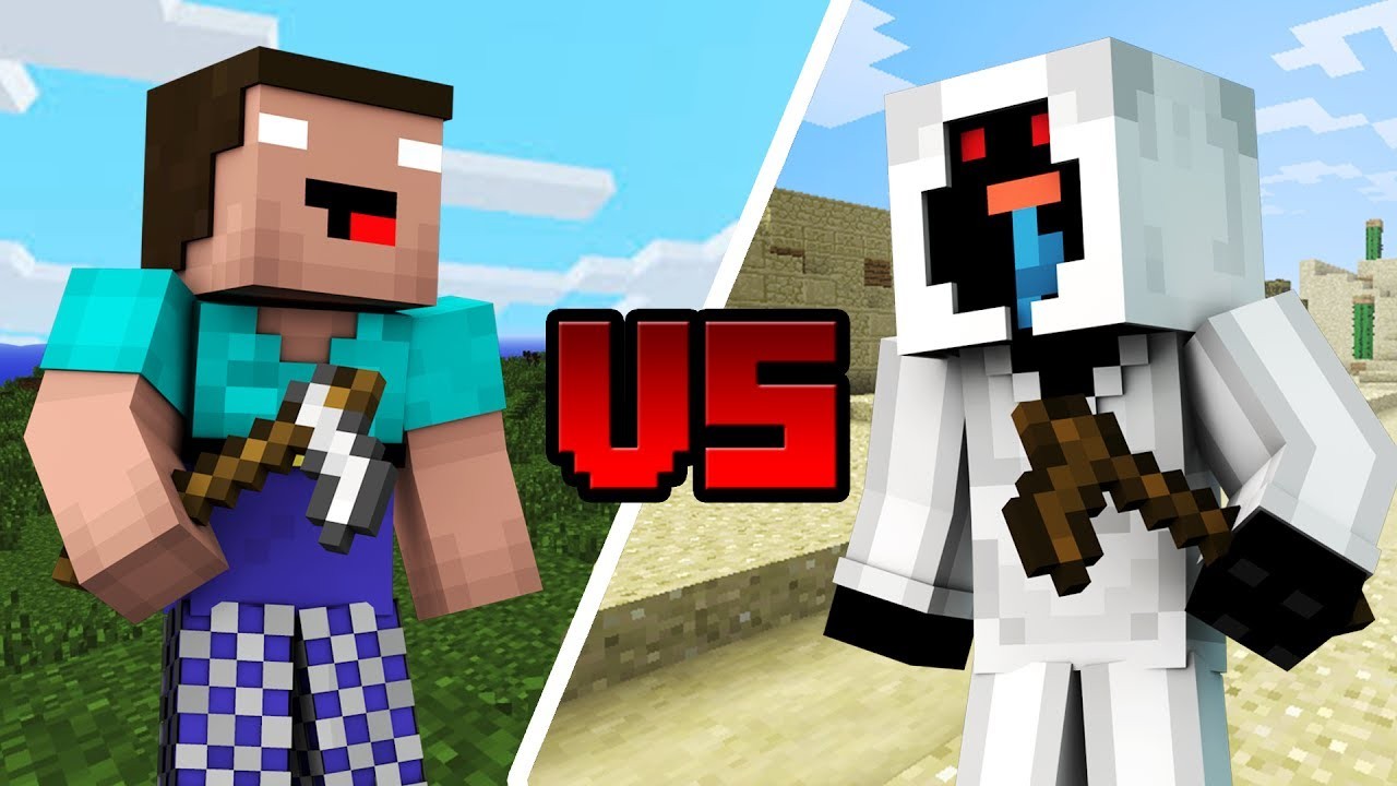 noob entity 303 vs noob herobrine minecraft youtube